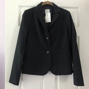 Gap The Academy Blazer Size 2 Solid Navy Blue